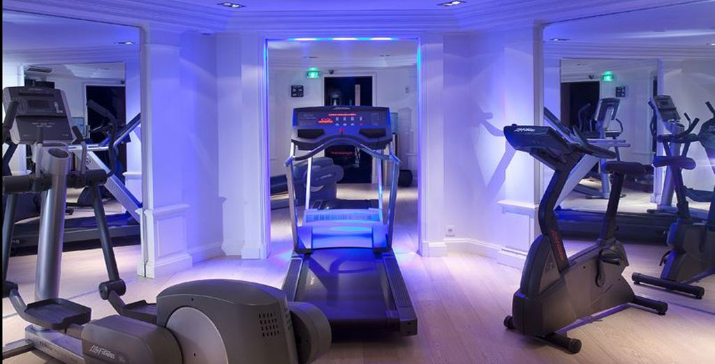 Geniet van uw toegang tot de fitnessruimte