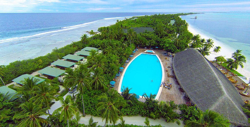 Het Canareef Resort Maldives 4* verwelkomt u in een uitzonderlijke omgeving
