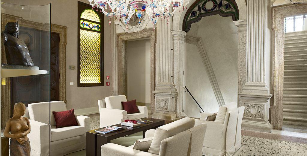 In een hotel gebouwd in een voormalig paleis van de zestiende eeuw