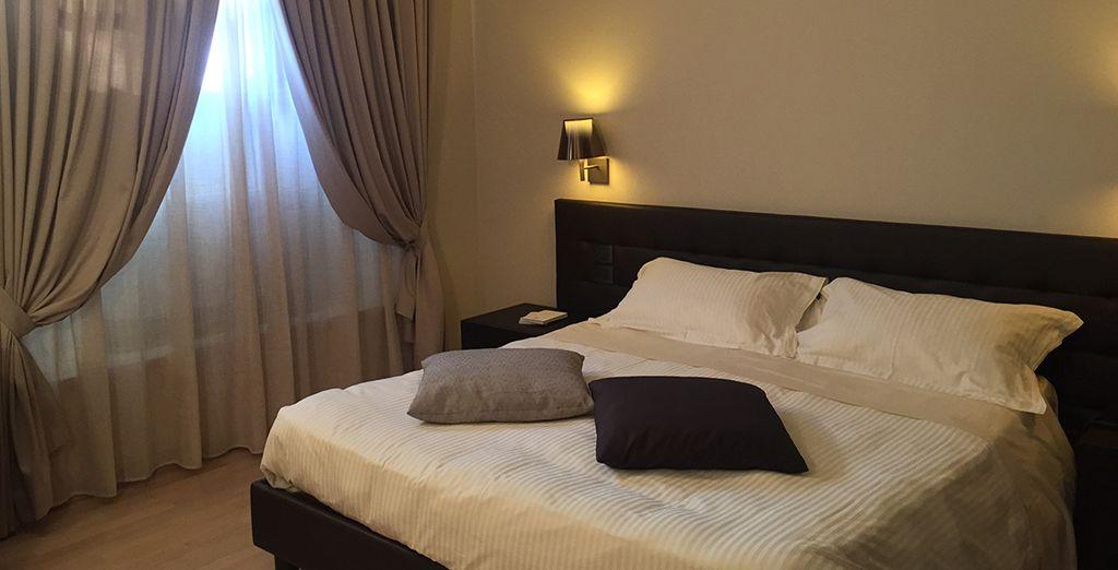 Verblijf in een comfortabele kamer