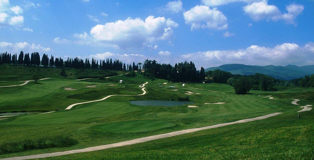 Omgeven door een golfbaan