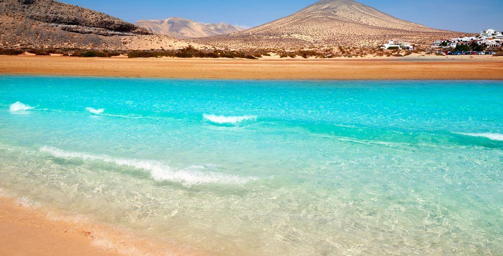 Direct aan het prachtige strand van Jandia in Fuerteventura