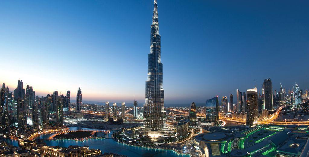 En bezoek de stad met onder andere de Burj Khalifa