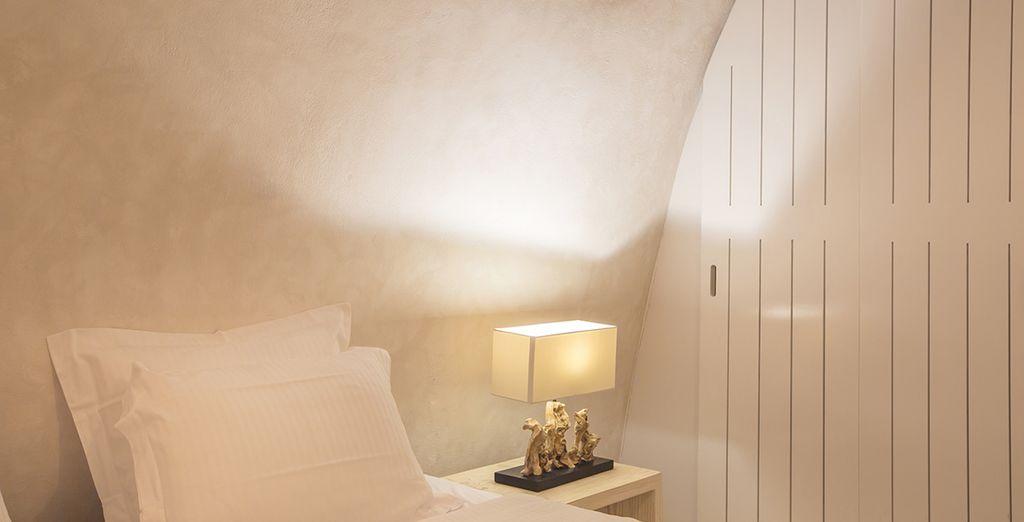 U verblijft in de Honeymoon Suite of de Cave Villa Suite