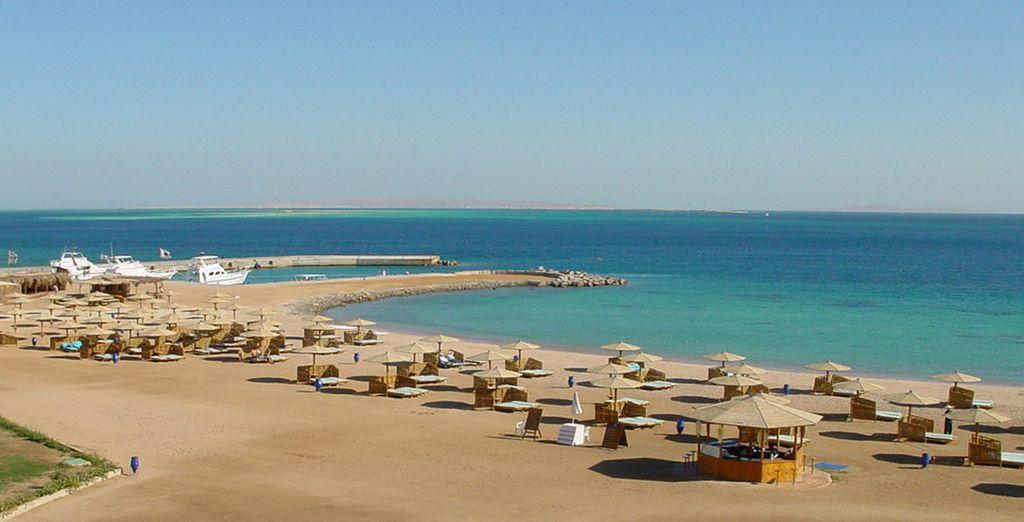 Relax op het privéstrand van het hotel of aan de rand van het zwembad