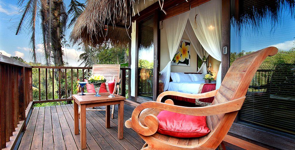 In een Jungle View villa in het Nandini Bali Jungle hotel 4*