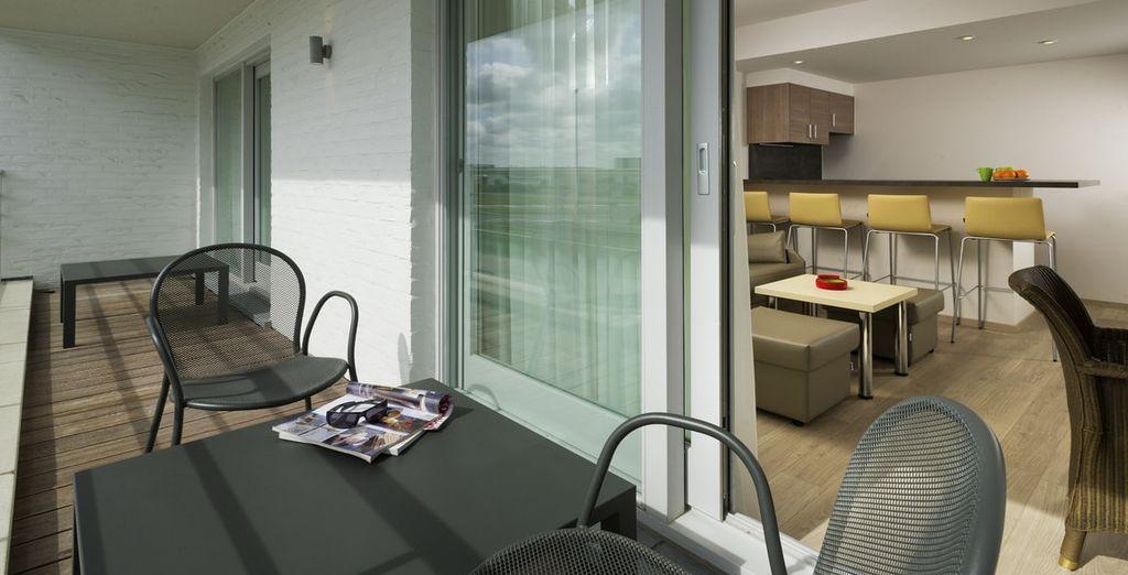 Met een ruim balkon
