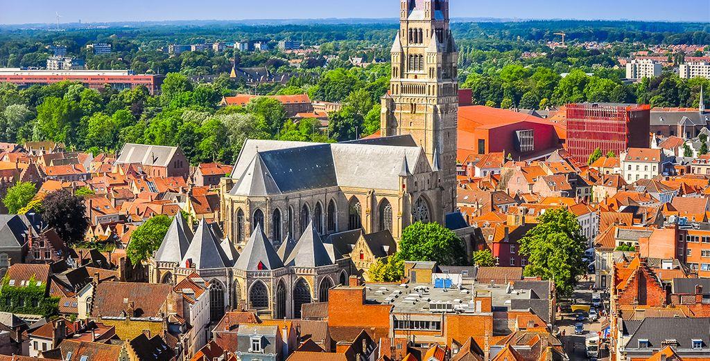 Binnen 25 minuten rijden bent u in het centrum van Brugge