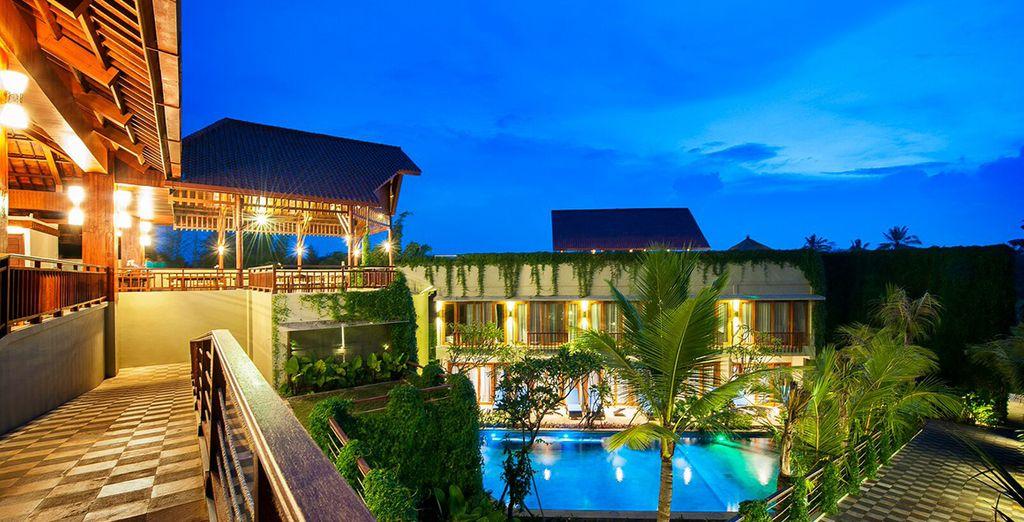 Deze onvergetelijke reis begint in het Hotel Ubud Wana