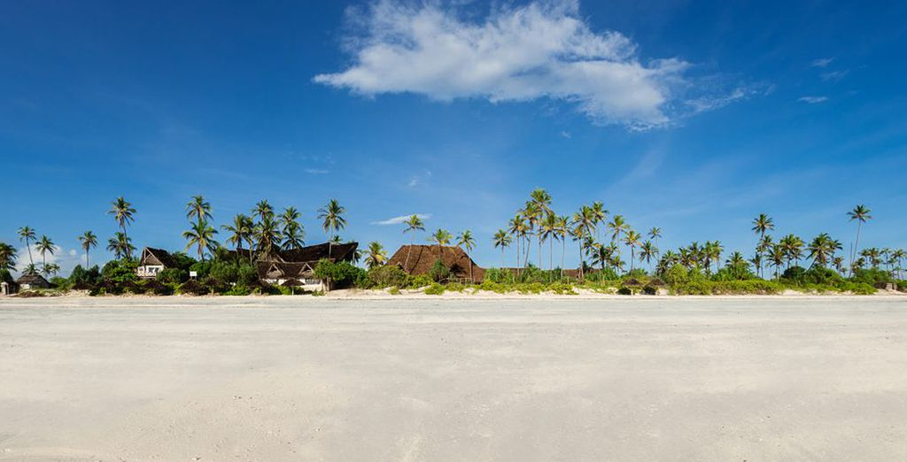 U verblijft aan het idyllische strand van Matemwe