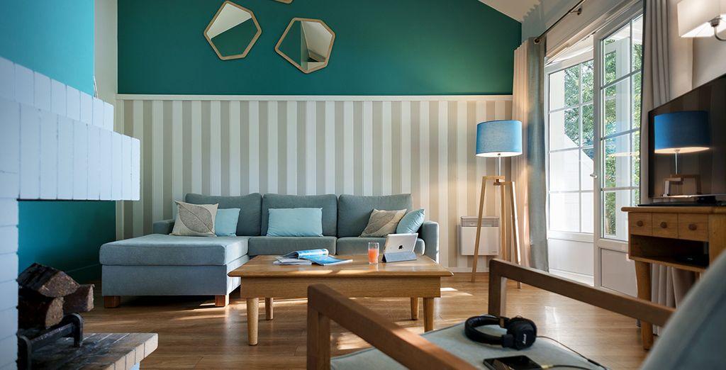 Of de Nouveau Design Cottage, al dan niet aan het meer