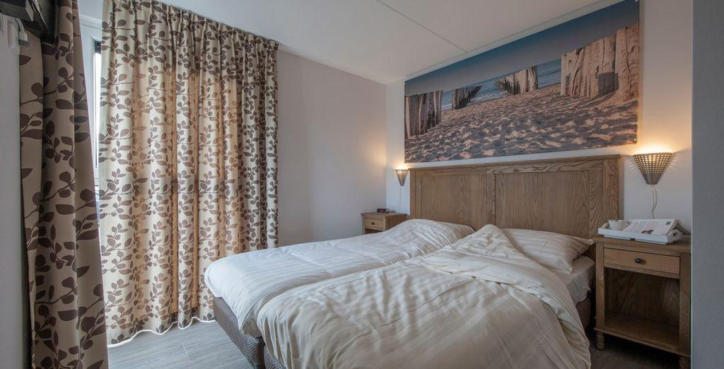 Met comfortabele slaapkamer