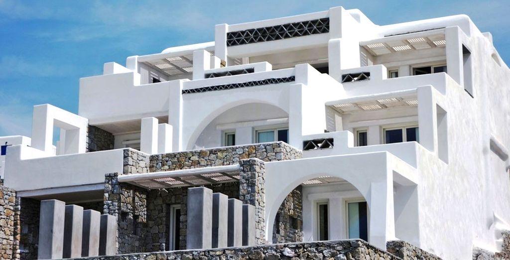 Met een typisch Cycladische opbouw...