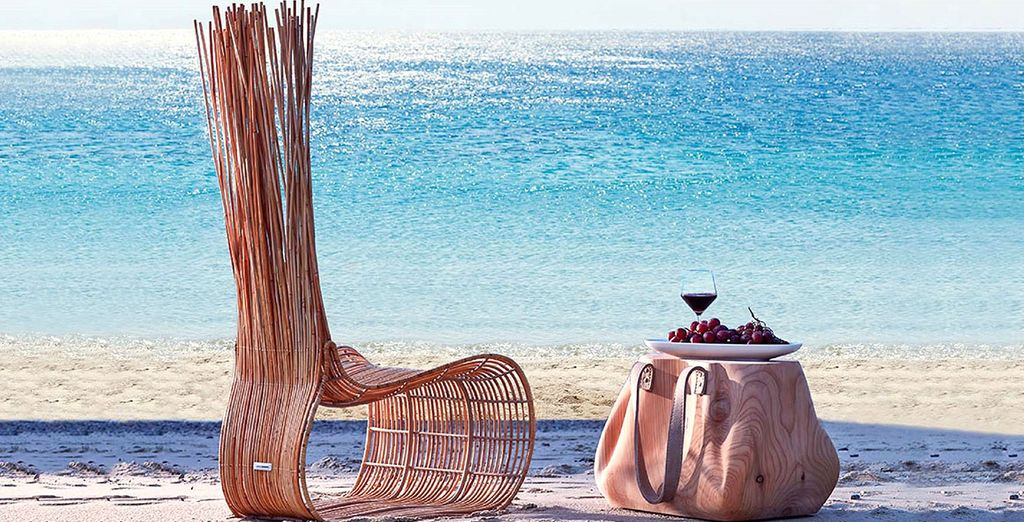 'Sit back' en geniet van het geluid van de golven!