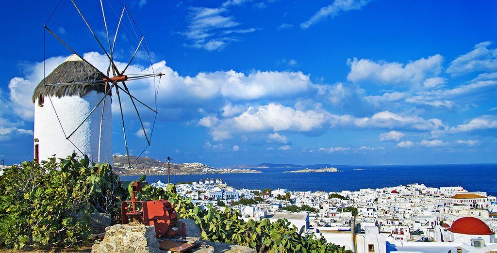 Mykonos stad bevindt zich op slechts 3 km