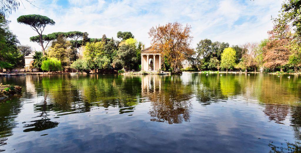 Wandel door de tuinen van Villa Borghese