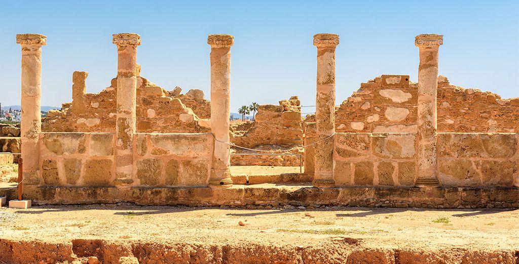 Op de Cypriotische archeologische vindplaatsen