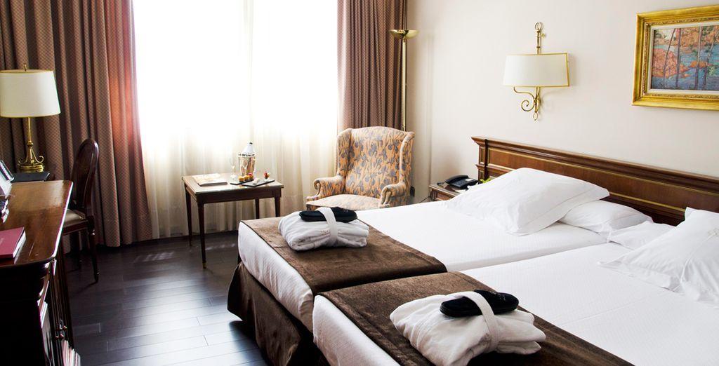 U verblijft in een moderne en comfortabele kamer