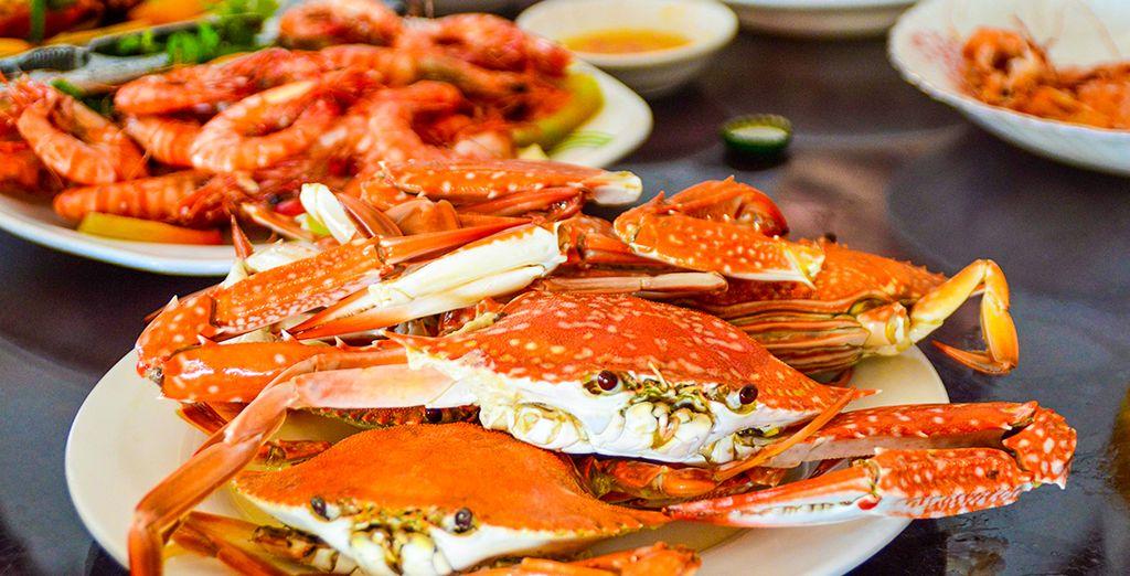 Probeer de specialiteit van Kep: Kampot Peper Crab