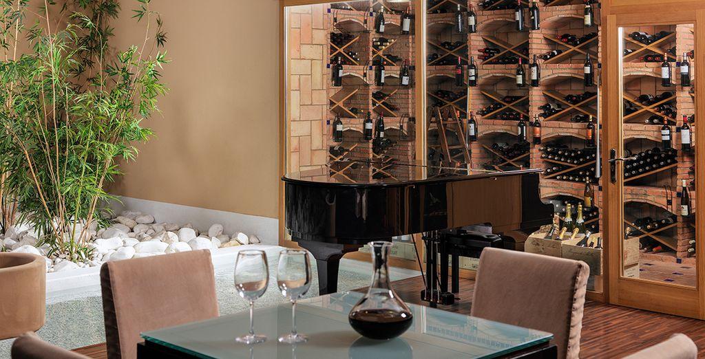 En voor een voortreffelijk wijntje moet u in de wijnkelder zijn