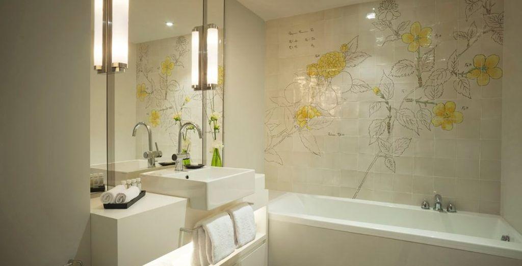 Met een luxueuze badkamer