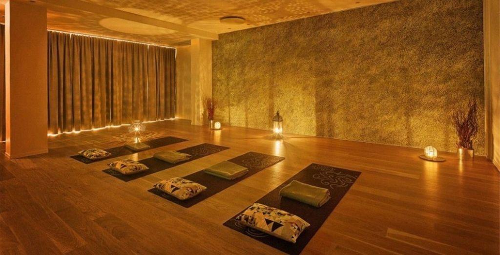 Relax tijdens yogalessen