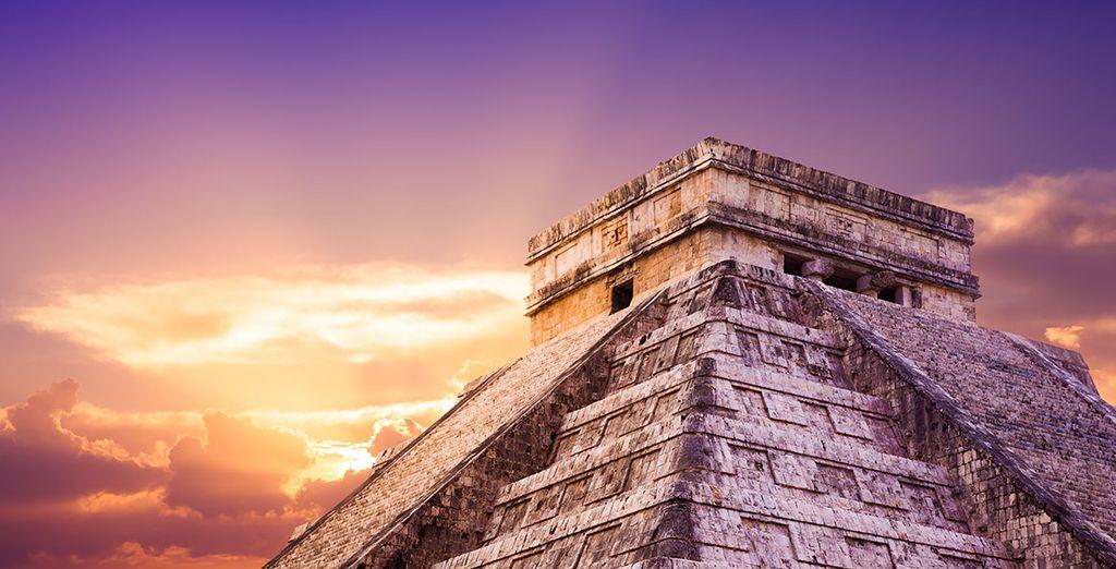 Waar overblijfselen van de Mayacultuur...