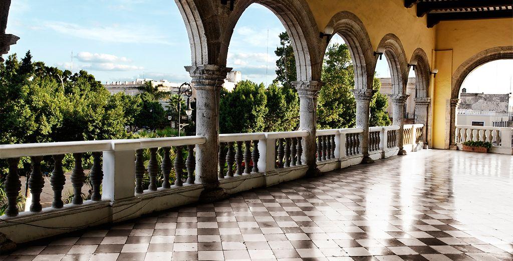 Langs de charmante koloniale stad Mérida