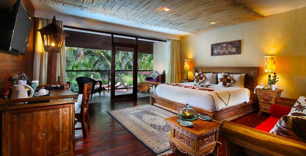 U begint met een verblijf in het Jungle Retreat by Kupu Kupu Barong 4*
