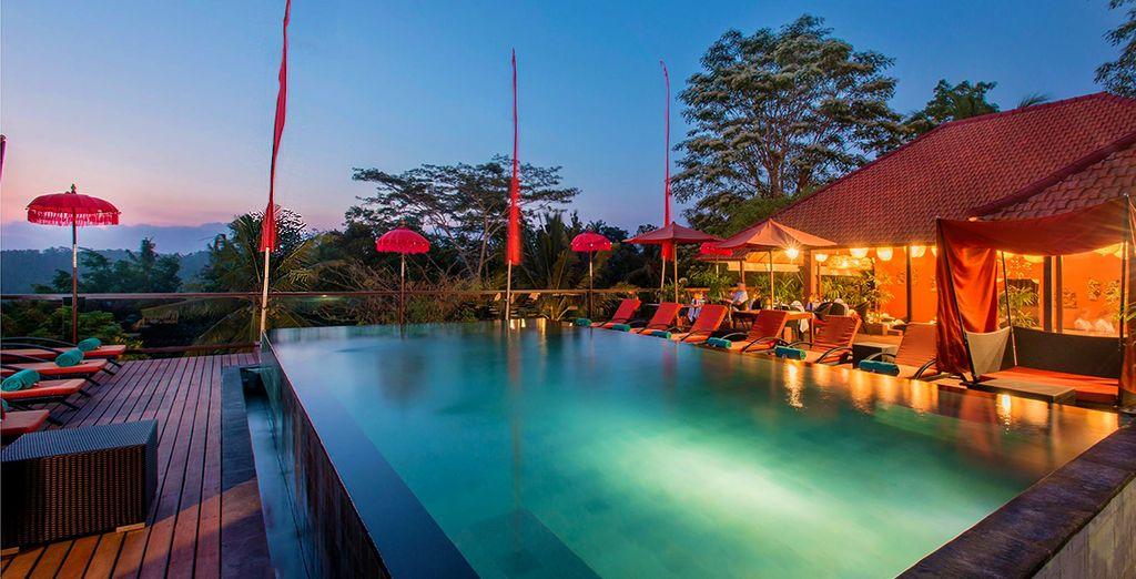 Er wacht niet één luxe hotel op u op Bali...
