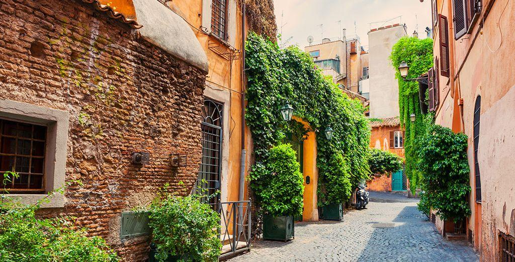 In de charmante wijk Trastevere