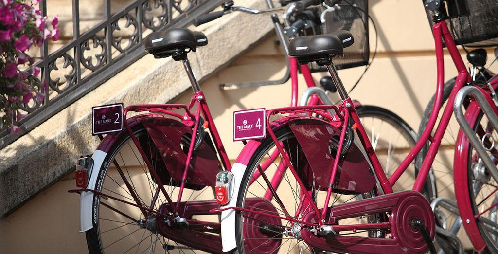 De stad is makkelijk te bezoeken met de fiets