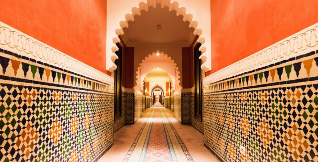 En wandel door de kleine straatjes van de Medina