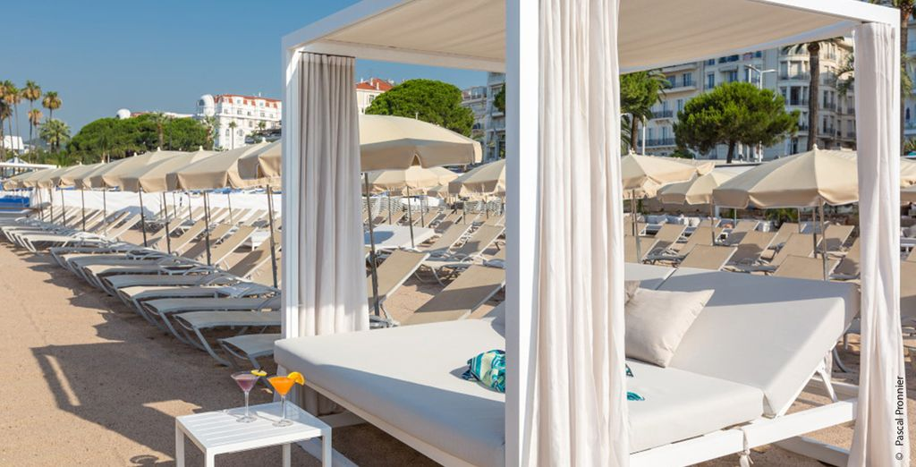 Op het strand van Cannes