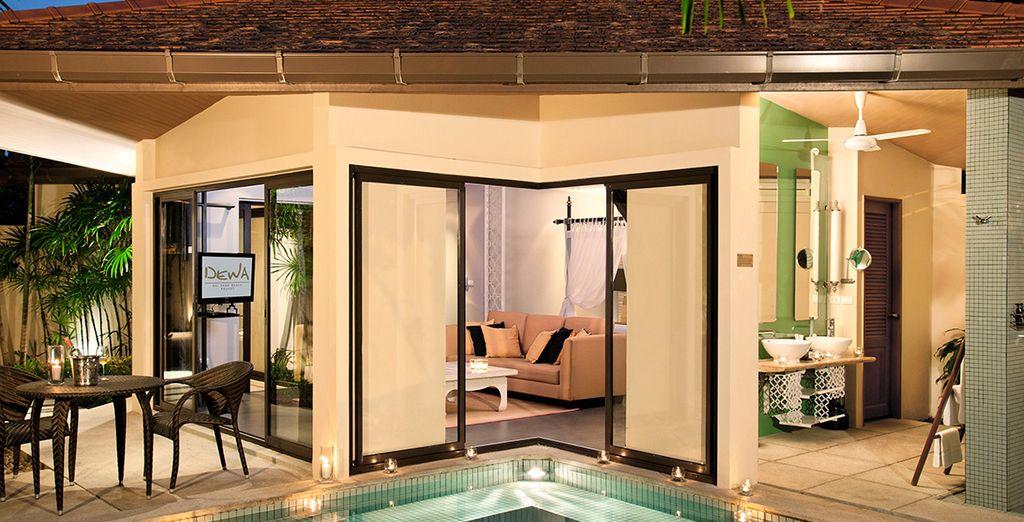 Of ga voor de luxe van een Pool Villa met privézwembad