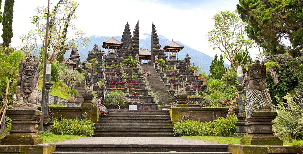 En de architectuur van de temples