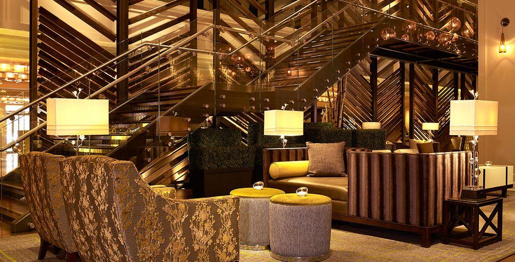 Relax in de gezellige lounge