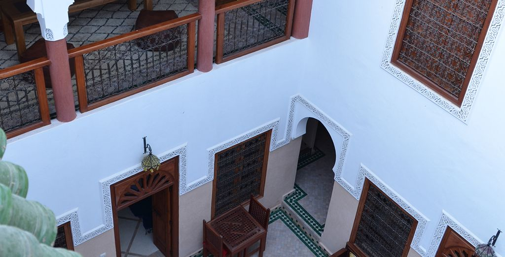 In a typical Marrakech architecture