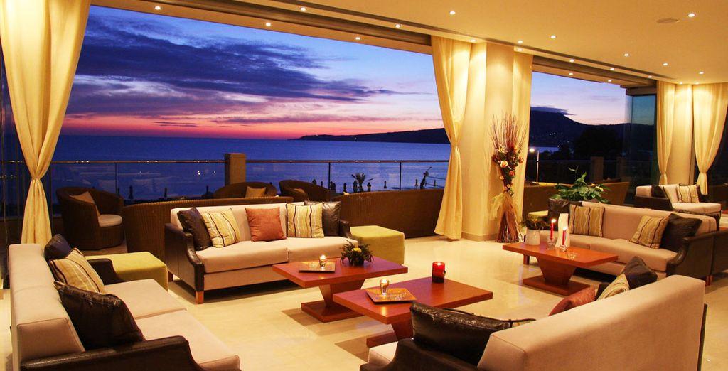 Enjoy romantic sunsets over dinner