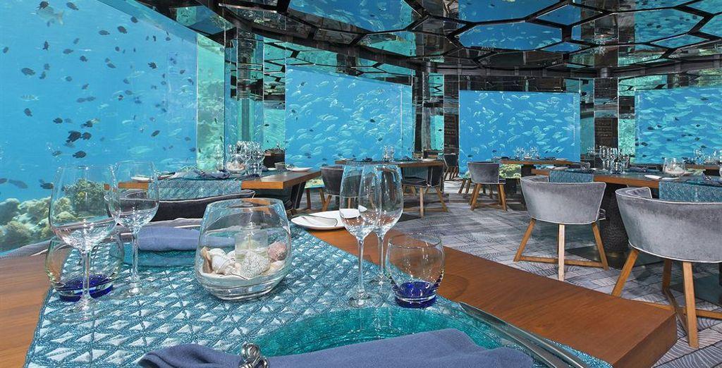 Which include an award winning underwater restaurant