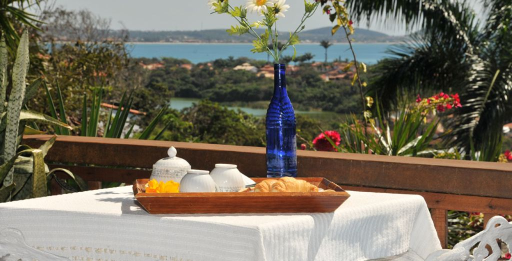 Opt for the Deluxe Suite which features a private balcony with sea view
