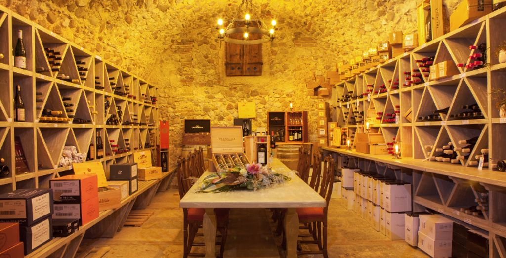 Be sure to visit the wine cellar