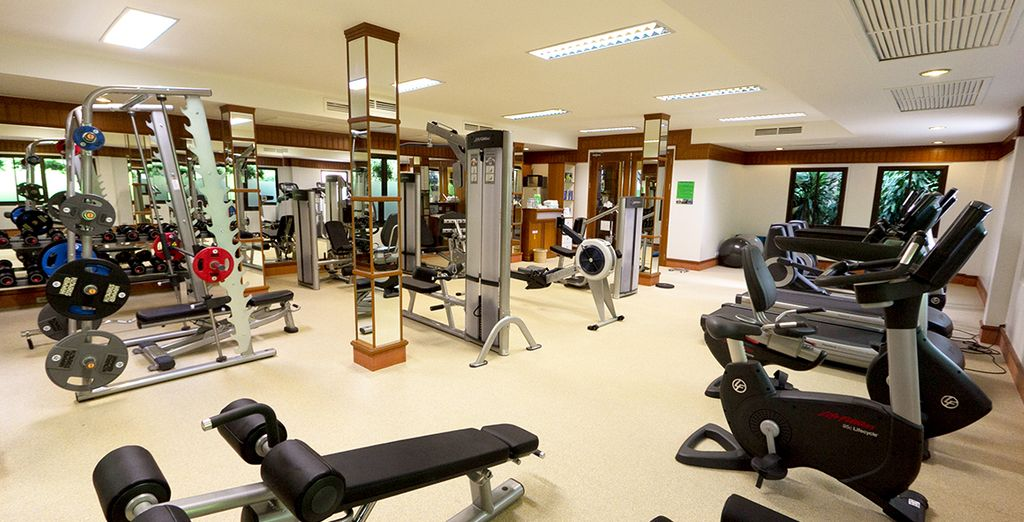 Work up a sweat at the gym