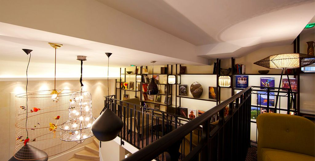 While outside may be regal, the interior is completely modern - Le Pradey 4* Paris