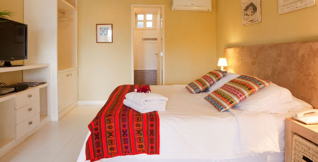 Choose the Superior Room with a view overlooking the gardens