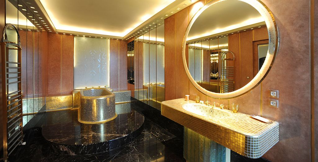 With a delightfully different bathroom