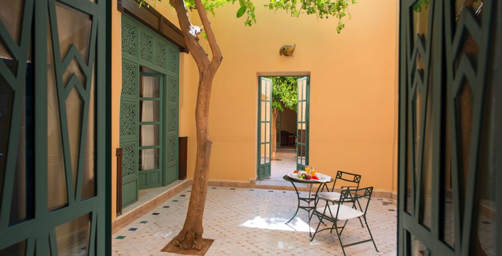 Why not enjoy a delicious breakfast in the adjoining courtyard?