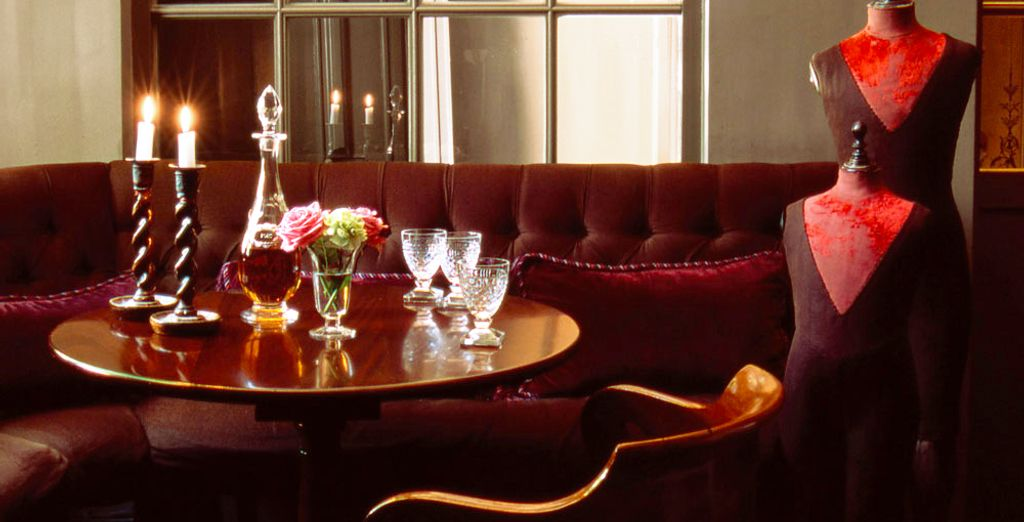 When evening comes, unwind in the comfortable living area with an aperitif
