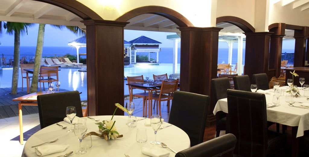 Enjoy delicious dishes at the hotel restaurant