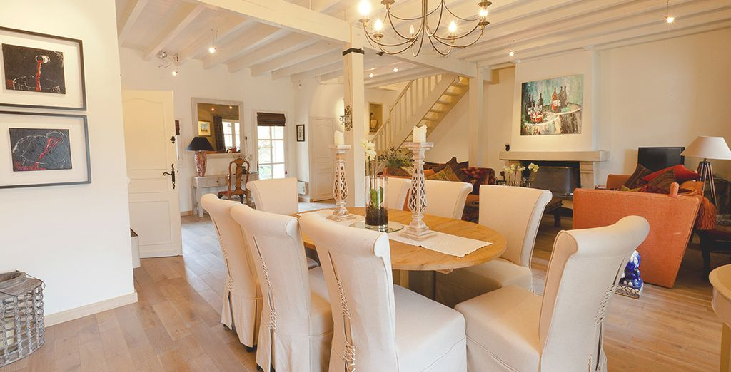 Enjoy your homemade meals in the chic dining area